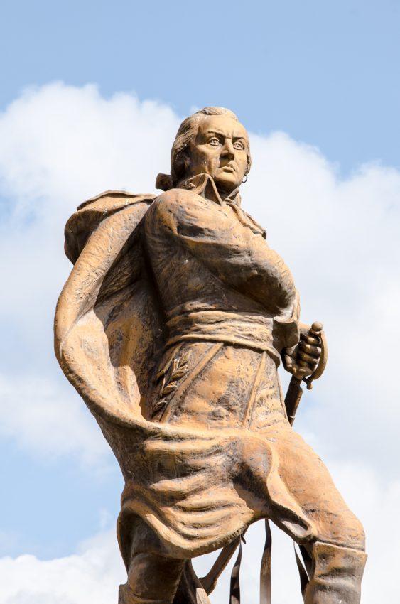 Estatua del Generalísimo Francisco de Miranda, Plaza Miranda Los Dos Caminos. Hugo Daini, 1968.