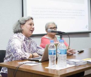 Beatriz Suárez y Maruja de Carruyo. Seminario MACZUL