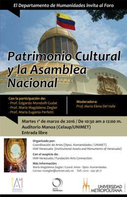 Foro Patrimonio Cultural_AN_2016