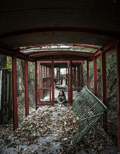 Interior de antiguo vagón. Foto Nohely Ron.