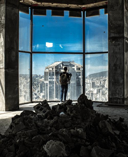 Vista de la Torre Oeste de Parque Central desde el piso 52 de la Torre Este. Foto Nohely Ron.
