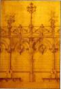 Detalle del muro sur. Proyecto Bulevar Santa Inés (1896), de Juan Bautista Sales. Fuente: Archivo Audiovisual. Biblioteca Nacional. (Tomado de la Revista Memoriales 1, pág. 34, ver ref.)