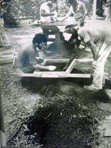Fotografía de las excavaciones 1971. Forma parte de la exposición permanente.