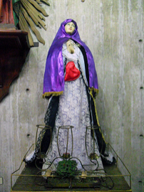 Virgen dolorosa. Foto: Mildred Maury.