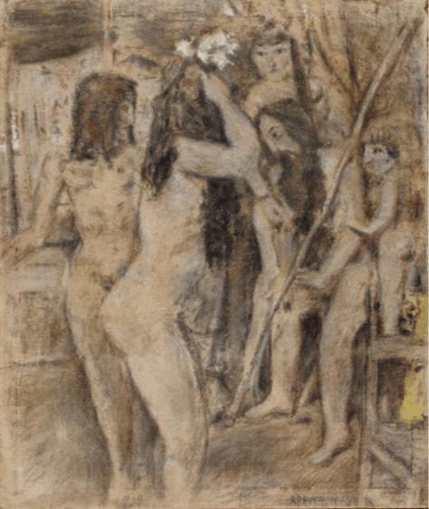 Tres mujeres y un niño,1948