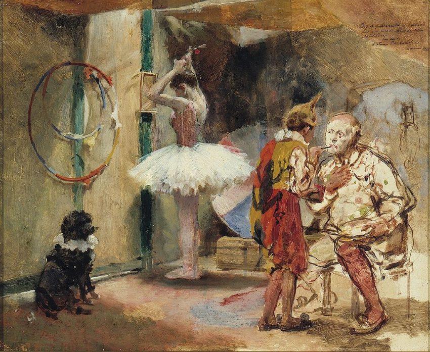 Escenas del circo, 1890.