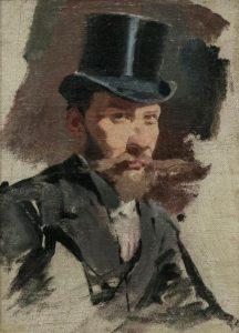 Autorretrato con sombrero de copa, 1892. Óleo sobre tela 162 x 216 cm