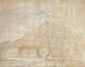 Paisaje y rancho, 1924