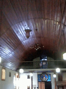 Techo nave central iglesia San Martín de Tours. Foto Mildred Maury, Diciembre 2016.