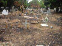 El cementerio fue quemado en 2010.