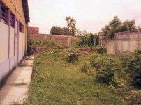 Parte posterior y pequeño patio de la sede del centro cultural Visagra. Foto Daniel Mena.
