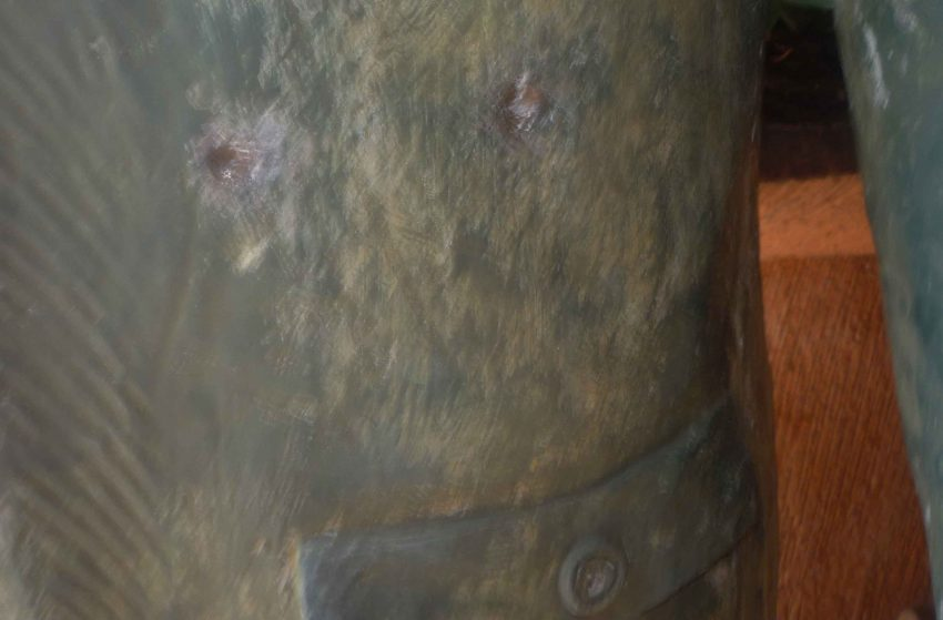 Dos impactos de bala. Año 2011. Marinela