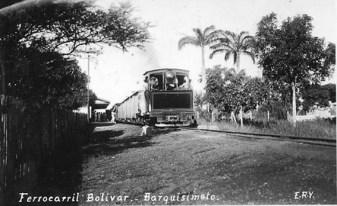 Ferrocarril Bolívar, 1928. Foto archivo de Florencio Sequera Jiménez. Digitalizada por Luis Perozo Padua.