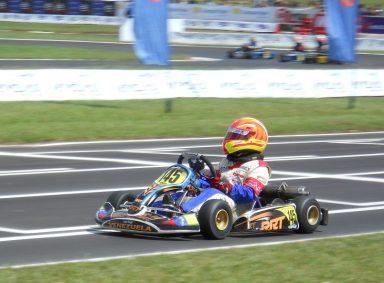 El deportista Jeremy Henríquez en el 8vo Campeonato Panamericano de EasyKart. Foto Daniel Doffiny.