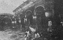 Ruinas del palacio del marqués en 1936. Foto dig. Samuel Hurtado Camargo.