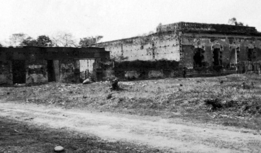 Vista exterior del palacio del marqués, en la década del 30. Foto archivo del Cronista oficial de Barinas. Dig. M. Araque.