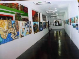 Sala de exhibición permanente del Museo de Artes Visuales Henry Alizo, Barinas. Foto Marinela Araque.