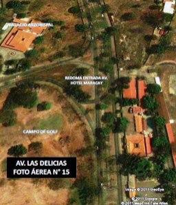 Algunos ciudadanos solicitan la reforestación de la av. Las Deicias. Foto Garaldem Maracay.