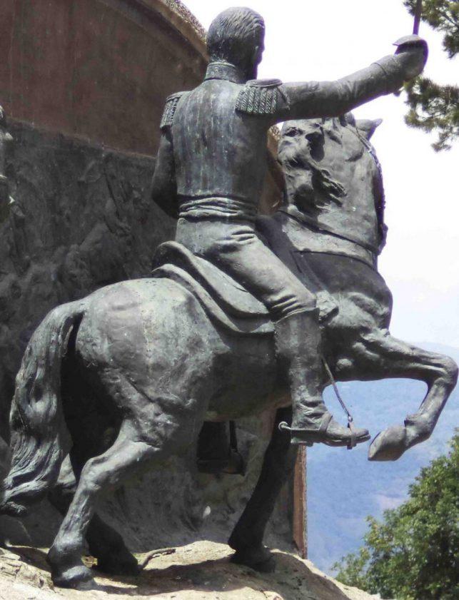 Otra vista del relieve referido a la batalla de Mosquitero, mayo 2017. Foto Samuel Hurtado Camargo