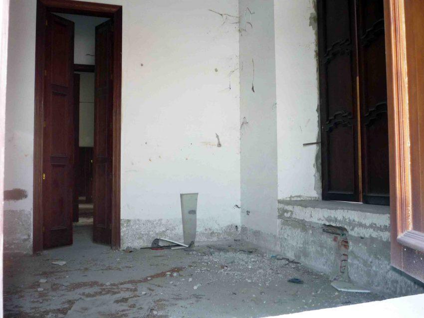 Estado de los salones internos, en 2010. Foto Marinela Araque.
