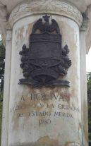 Cara frontal del pedestal. Foto Samuel Hurtado Camargo, 28 de mayo de 2017