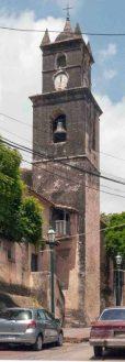 El campanario, punto focal de la vieja catedral de La Asunción. Foto The Photographer / Creative Commons, abril 2014.