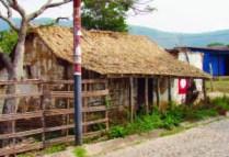 Antigua capilla de El Topón, estado Táchira, construida con materiales nativos.