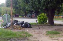 Basura acumulada en el parque Los Mangos, de la ciudad de Barinas. Venezuela.
