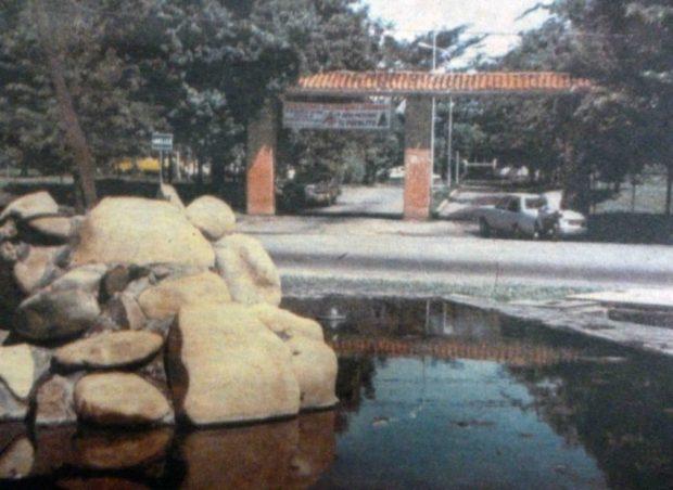 La antigua Redoma de Punto Fresco en 1988. Patrimonio cultural de la ciudad de Barinas, estado Barinas. Venezuela