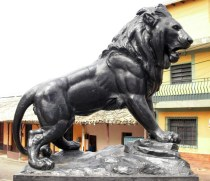 León de Capacho, emblemática escultura del pueblo de Capacho. Trujillo, Venezuela