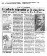 Oficio elevado al IPC sobre la intervención inconsulta de la redoma de Punto Fresco, en Barinas. Venezuela.