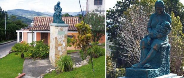 Plaza La Madre y monumento, en Capacho Nuevo, Táchira. Venezuela.