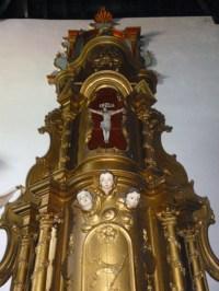 Retablo sagrario, joya de la iglesia San Nicolás de Bari en el municipio Obispos del estado Barinas, Venezuela.