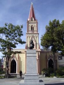 Vista del lateral izquierdo del monumento a Rangel recién restaurado, diciembre 2006. Foto Samuel Hurtado Camargo