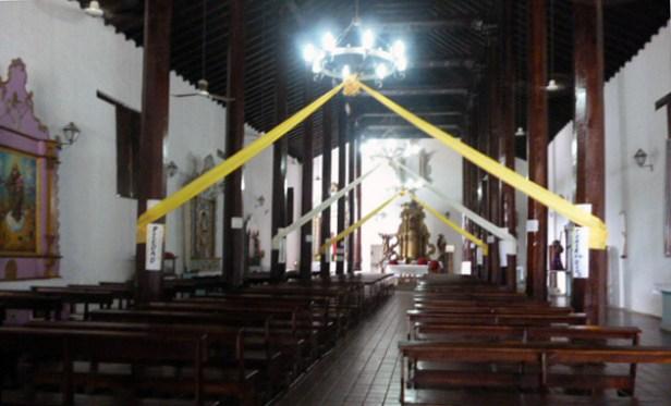Vista interior de la iglesia San Nicolás de Bari. Municipio Obispos, estado Barinas. Venezuela