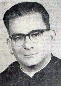 Monseñor Ángel Ramón Parada Herrera en los años 60. Estado Táchira, Venezuela.