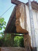 Así quedó la pared de la casa Tapiera en pleno centro histórico de barina, 2010. Venezuela.