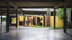 Bimural Homenaje a Malevitch, de Vasarely en la UCV. Patrimonio de la Humanidad, Venezuela.