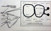 Croquis de ubicación del parque jardin Nuestra Señora del Rosario. Archivo La Prensa. 1996