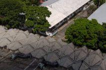 Vista desde la Facultad de Arquitectura de la UCV. Patrimonio mundial de Venezuela. Unesco 2000.