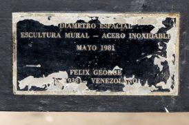 Detalle de la plaza del mural de Félix George en la Facultad de Medicina de la UCV. Ciudad Universitaria de Caracas. Ciudad Universitaria de Caracas, Patrimonio de la Humanidad desde el año 2000. UNESCO.