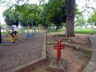 Gimnasio al aire libre en el parque Los Mangos.. Bien cultural de Barinas, Venezuela.