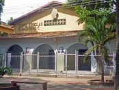 Fachada del Grupo Escolar Estado Guárico, monumento monumento histórico municipal del estado Barinas, Venezuela.
