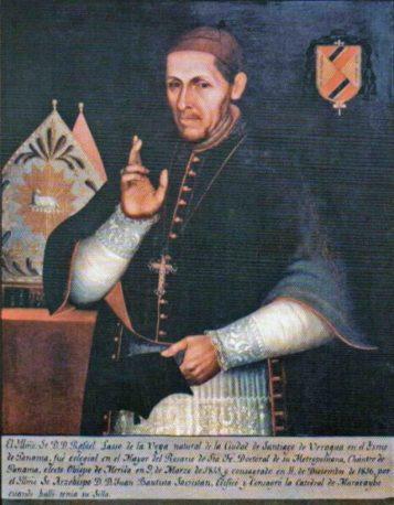 Ilustrísimo señor doctor Rafael Lasso de la Vega. Óleo de José Lorenzo de Alvarado, siglo XIX