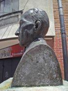 Lateral izquierdo del busto de Rafael Lasso de la Vega. Foto Samuel Hurtado Camargo, mayo de 2017