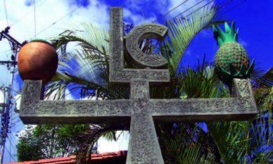 El monumento al fundador de Capacho Viejo alude a las labores del poblado del estado Táchira, Venezuela..