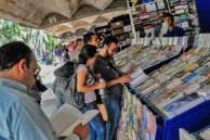 Pasillo de los libreros de la UCV. Ciudad universitaria de Caracas, declarada Patrimonio de la Humanidad en el año 2000 por la UNESCO. Venezuela.
