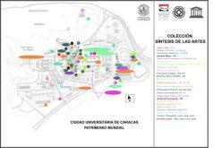 Plano Síntesis de las artes,de la Ciudad Universitaria de Caracas. Patrimonio de la Humanidad, 2000. Venezuela.
