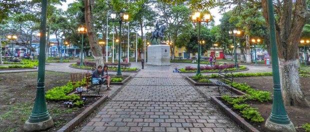 Plaza Bolívar de Rubio. Estado Táchira, Venezuela.