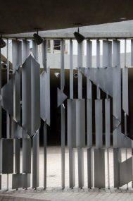Positivo - negativo (1954), obra de Víctor Vasarely en la UCV. Ciudad Universitaria de Caracas, Patrimonio de la Humanidad desde el año 2000. UNESCO.